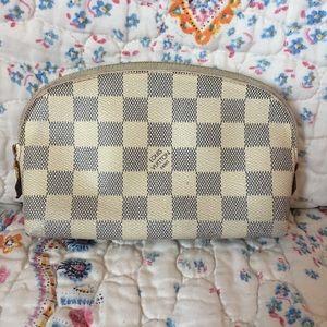 Louis Vuitton Damier Azur Pochette Cosmetic Pouch
